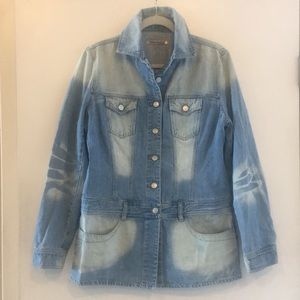SUPER FUN long jean jacket! Made in Italy!